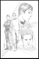 STAR TREK Kirk and Spock by GARRIE GASTONNY by DeevElliott