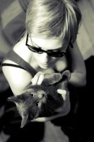 She and Her Cat 1 by SmileyG