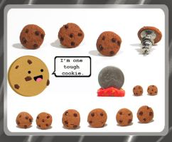 Chocolate Chip Cookie Studs by chat-noir