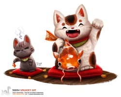 Daily Painting 1680# Unlucky Cat by Cryptid-Creations