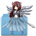 Erza Folder Icon 1 by andrewisgod9000