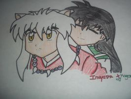 inu and kagome by sonic4568