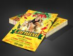 Carnival Mardi Gras Party Flyer Template by SanGraphics