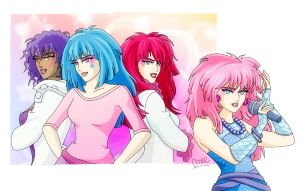 Jem and the Holograms by hiddenmuse