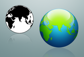 Globe icons by Cheezen