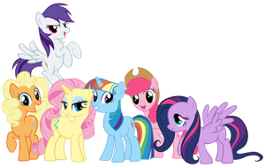 Mane 6 Swapped Colors by Shadowhedgiefan91