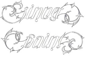 sinner saint ambigram by sincycles