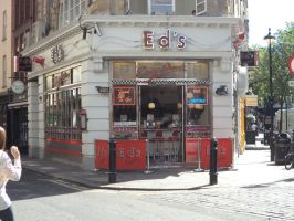 Eds Diner at Soho in the summer sun 2014 by ChristianPrime1-Bot