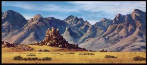 Desert Mountains by Fleret