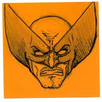 Post-It Wolverine by DoomCMYK