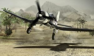 Corsair Landing by caastel