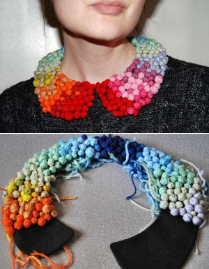 Pom Pom Collar Necklace by Madizzo