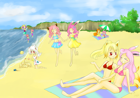 Welcome to the beach~ by Eeveelutions95