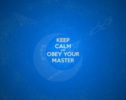 Keep Calm and Listen to one song by Master-0f-Puppets