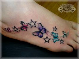 BUTTERFLYS AND STARS by state-of-art-tattoo