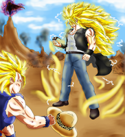 Legendario Super Sayajin 3 by guerreroOmega