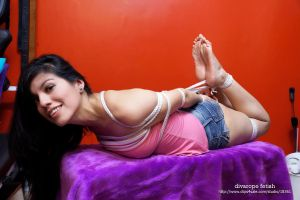 Luna in hogtied by request by DivaRope