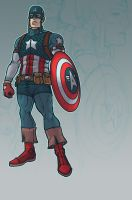 PRT: Captain America Design by dio-03