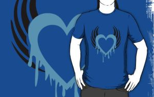 Liquid Blue T-Shirt by drg