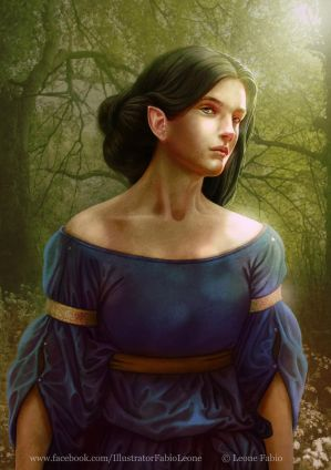 Luthien's gaze by Leone-art