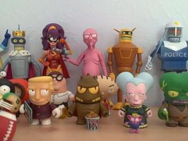 Futurama/SouthPark/FamilyGuy Figure Collection 2/3 by RobotHellboy1114