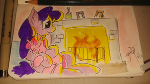 Day 12: By the fire by Johansrobot