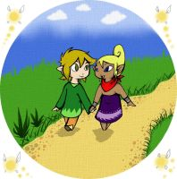 Link and Tetra - You and I by Lenecian9