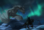 Visiting Paarthurnax by Astarcis