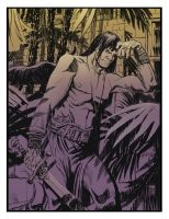 Conan in the courtyard colors by deankotz