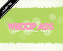 Whoop Ass Font by Aquatutorials