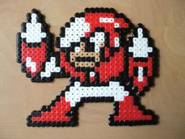Perler Crashman by NES--still-the-best
