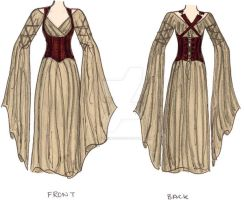 Corseted Dress by racehorse87