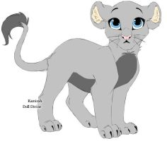 Moonfall as a lioness cub by CokeCatArtsy