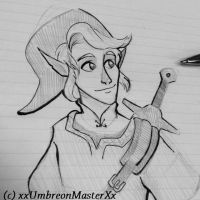 Link Doodle by xxUmbreonMasterXx