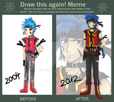 Before and After MEME :: Pokemon trainer guy xD by Ya-e