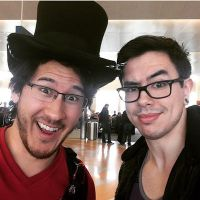 Markiplier meets NateWantsToBattle  by jonnyrubberman