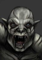 Azog WIP by XantheUnwinArt