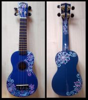 Decorated Ukulele by sivvus