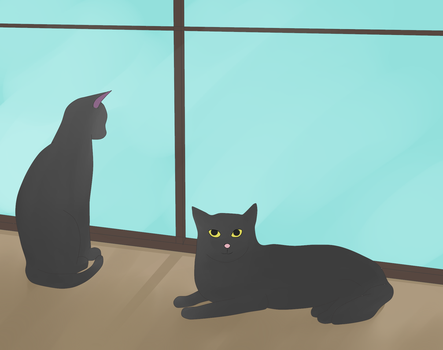 Gift - Jiji and Mr. Midnight by Steampunk-Serenity