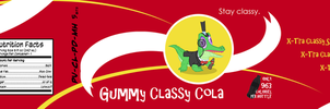 Gummy Classy Cola Label by PixelKitties
