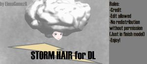 MMD Storm Wig for DL by ElenaGomezR