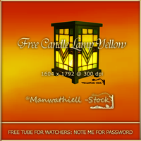 EXC Candle Lamp Yellow Tube by Manwathiell-Stock