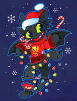 Holiday Toothless by Kuitsuku