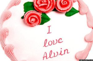 'I love Alvin' cake by iLikeChipmunks