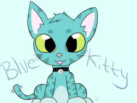 Blue Kitty by Heart-Berry