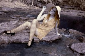 Infrared Lady in the Creek by soonerjh