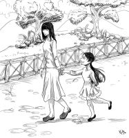 Walking home sketch/lineart by MiamoryHJ
