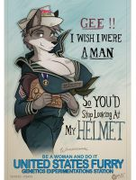 Gee! I Wish I Were A Man... by wolfjedisamuel