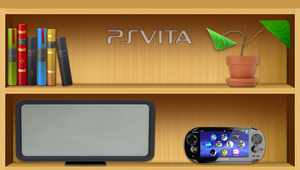 Bookshelf PS Vita wallpaper by GYNGA