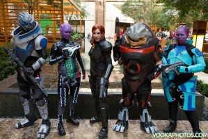 A-kon 2014 Mass Effect group by prettyfloralbonnet